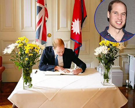 Prince William Signs Nepal Earthquake Book of Condolences As Royal Baby Wait Continues