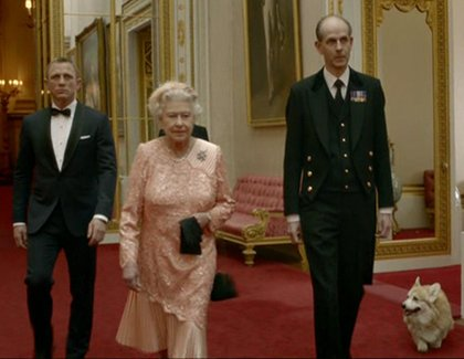 Queen parachutes into Olympics with James Bond in acting debut The scene was devised by Danny Boyle in the summer of 2011, and while Buckingham Palace quickly agreed to take part it took far longer for the Queen and Craig to find a gap in their schedules.