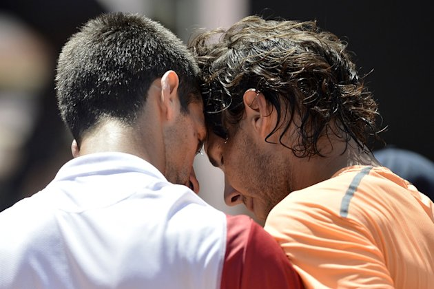 Spanish Rafael Nadal (R) Is AFP/Getty Images
