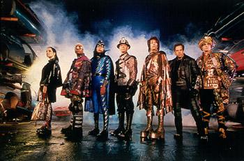 The Bowler ( Janeane Garofalo ), Invisible Boy ( Kel Mitchell ), The Sphinx ( Wes Studi ), The Shoveler ( William H. Macy ), The Spleen ( Paul Reubens ), Mr. Furious ( Ben Stiller ) and The Blue Raja ( Hank Azaria ) are the Universal's Mystery Men