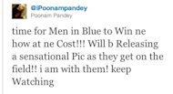 Poonam Poonam's Twitter popularity leads to MensXP.com's feature, the Funniest Tweets, featuring tweets about Poonam Pandey stripping to a bikini even after Team India Test series loss to England