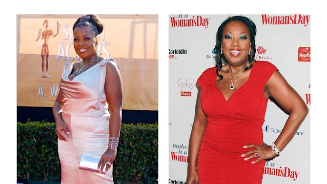 FILE- This combo image made of file photos from Feb. 5, 2005 in Los Angeles, left, and Feb. 15, 2012 in New York, right, shows TV personality Star Jones. Jones, who underwent open heart surgery three years ago at age 47 and now urges awareness about heart disease among black women, was met by an overflow crowd earlier this year when she convened a Congressional Black Caucus Foundation panel on black women and obesity. (AP Photos, File)