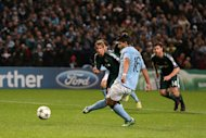 Manchester City's Sergio Aguero scored the equaliser from the penalty spot