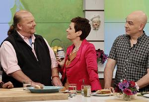 Mario Batali, Jane Elliot, Michael Symon | Photo Credits: Lou Rocco/ABC