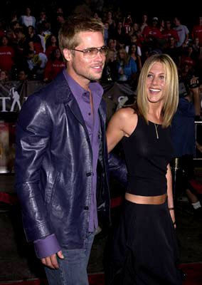 Premiere: Brad Pitt and Jennifer Aniston at the Westwood premiere of Warner Brothers' Rock Star - 9/4/2001