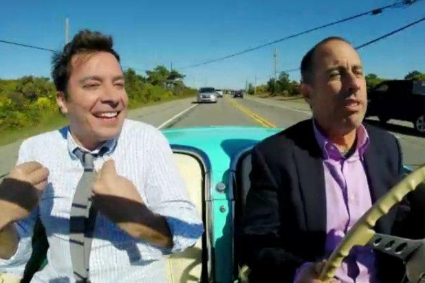 Jimmy Fallon Leaves Dry Land to Ride in Jerry Seinfeld's Boat in 'Comedians in Cars Getting Coffee' Finale (Video)