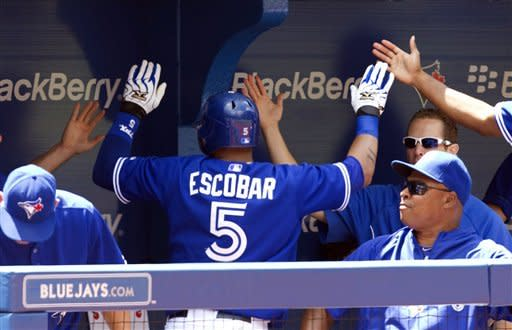 Lawrie, Escobar homer, Blue Jays rout Angels 11-2