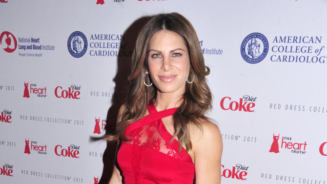 Jillian Michaels attends the Red Dress Collection 2013 Fashion Show, on Wednesday, Feb. 6, 2013 in New York. (Photo by Charles Sykes/Invision/AP)