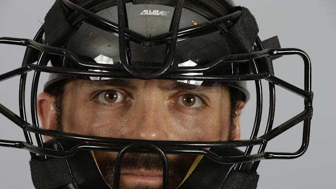 This is a 2015 photo of Michael McKenry of the Colorado Rockies baseball team. This image reflects the Rockies active roster as of March 1, 2015, when this image was taken. (AP Photo/Darron Cummings)