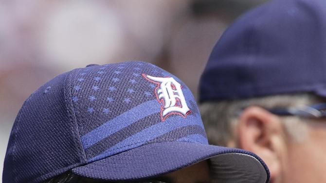 Detroit Tigers manager Brad Ausmus watches from the dugout during a baseball game against the Toronto Blue Jays Saturday, July 4, 2015, in Detroit. (AP Photo/Duane Burleson)