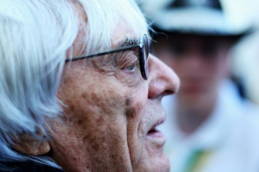 F1 supremo Bernie Ecclestone is seen following practice for the United States Formula One Grand Prix at Circuit of The Americas on November 15, 2013 in Austin, Texas
