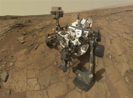 Self-portrait of the rover Curiosity, combining dozens of exposures taken by the rover's Mars Hand Lens Imager (MAHLI) during the 177th Martian day, or sol, is seen in this February 3, 2013 handout image courtesy of NASA. REUTERS/NASA/JPL-Caltech/MSSS/Handout