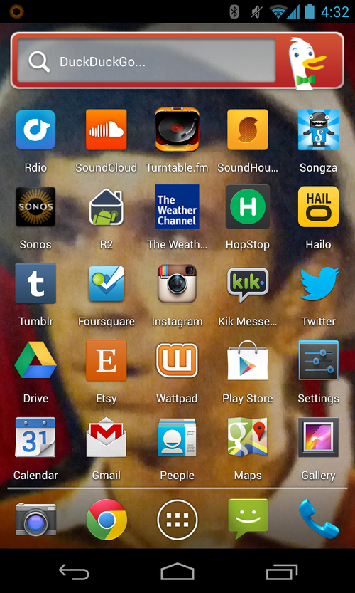 fred wilson's home screen
