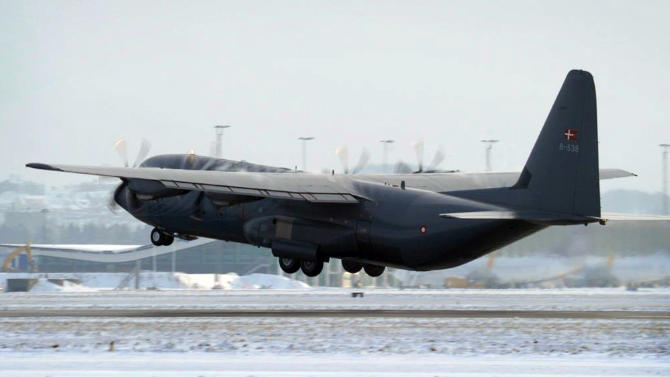 A  Danish C-130J Hercules headed to the operation in Mali lifts off from Aalborg Air Base, Tuesday Jan. 15. 2013 on its flight to Pari  to support the French military effort in the troubled West African country of Mali with a Hercules transport aircraft. (AP Photo/Polfoto/Danish Air Force, handout) DENMARK OUT