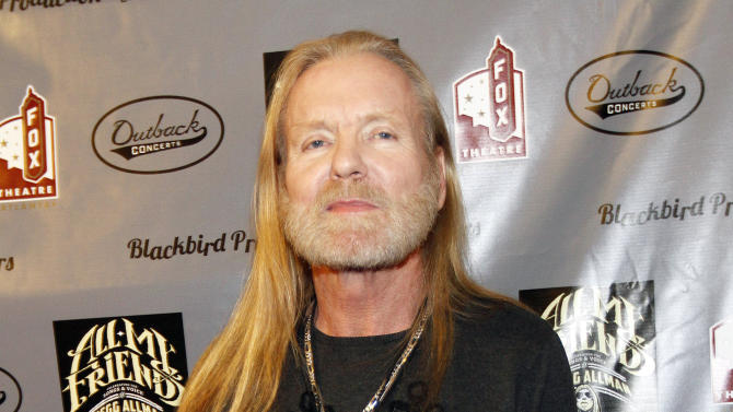 """FILE - This Jan. 10, 2014 file photo shows musician Gregg Allman on the red carpet at All My Friends: Celebrating The Songs and Voice of Gregg Allman tribute in Atlanta. Allman was sued Wednesday, May 21, 2014, along with movie producers, a railroad company and others accused of being responsible for the February death of a young camera assistant when a freight train slammed into a film crew in southeast Georgia. The lawsuit filed in Chatham County State Court by the parents of 27-year-old Sarah Jones targets 10 individuals associated with the film """"Midnight Rider,"""" based on the Allman Brothers Band singer's memoir. (Photo by Dan Harr/Invision/AP, File)"""