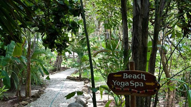 This 2010 photo shows the grounds of Pura Vida Adventures, a surf and yoga camp in Malpais, Costa Rica. The camp is an example of active vacations tailored to travelers who value healthy lifestyles and new experiences. (AP Photo/Perry Horwich)