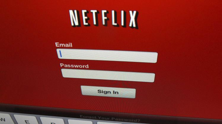 The Netflix sign on is shown on an ipad in Encinitas in this file photo