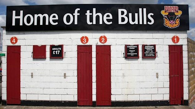 A view of the turnstiles at the Odsal Stadium, home to the Bradford Bulls