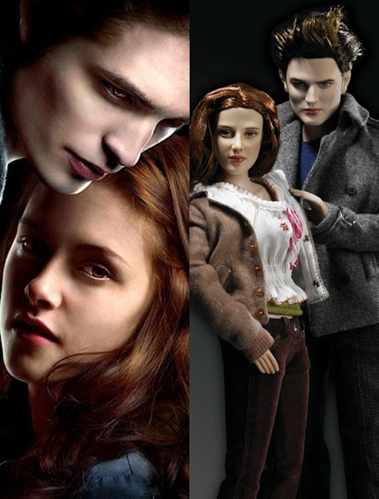 Celebrity dolls:  Kristen Steward and Robert Pattinsons Twilight characters came to haunt every home once  these plastic versions appeared.