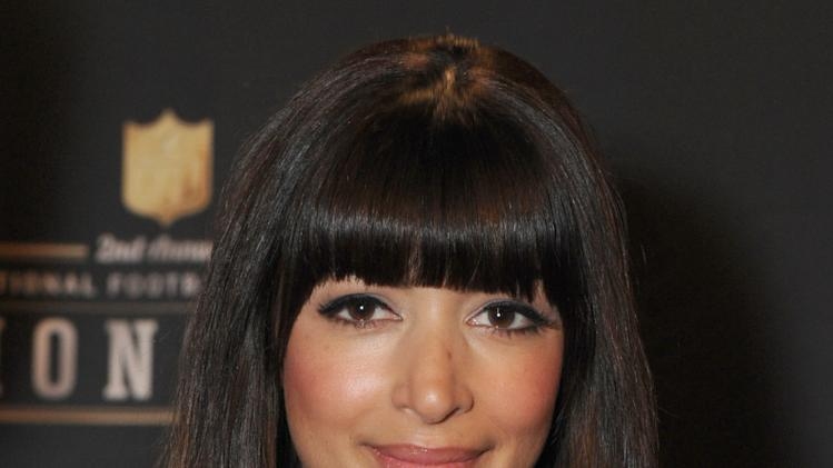Hannah Simone at the 2nd Annual NFL Honors on Saturday, Feb. 2, 2013 in New Orleans. (Photo by Jordan Strauss/Invision/AP)