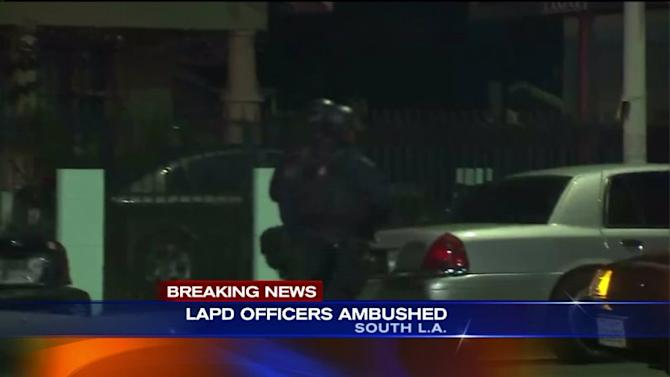 2 LAPD Officers Ambushed, Shot at in `Unprovoked Attack` in South LA