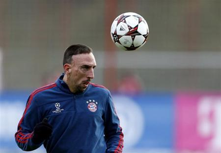 Bayern Munich's Ribery attends a training session in Munich