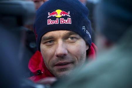 France's Sebastien Loeb is seen at the Sweden Rally of the second round of the FIA World Rally Championship in Hagfors