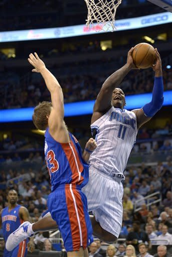 Without Howard, Magic ease past Pistons 119-89