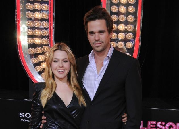 Majandra Delfino and David Walton arrive at the Los Angeles Premiere of 'Burlesque' at the Grauman's Chinese Theatre in Hollywood on November 15, 2010 -- Getty Premium
