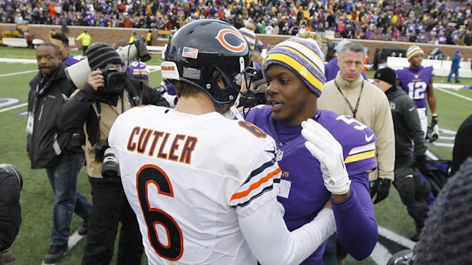 Bridgewater, Vikings get by Bears 13-9