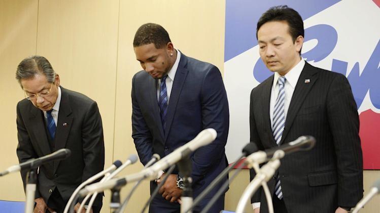 Balentien apologizes in Japan for Florida arrest