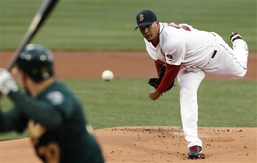 Napoli has slam, Red Sox beat Athletics