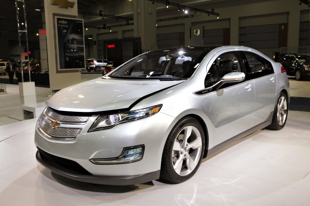 FILE - In this Jan. 26, 2010 file photo, the Chevy Volt appears on display at the Washington Auto Show, in Washington. The National Highway Traffic Safety Administration said Friday, Nov. 25, 2011, it has opened a formal safety defect investigation of the lithium-ion batteries in General Motors Co.'s Chevrolet Volt to assess the risk of fire in the electric car after a serious crash. (AP Photo/J. Scott Applewhite, File)