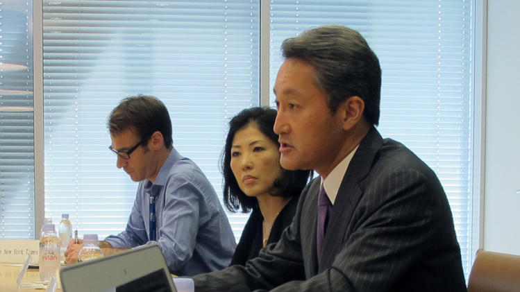 Sony CEO praises Japan leader for 'Abenomics'
