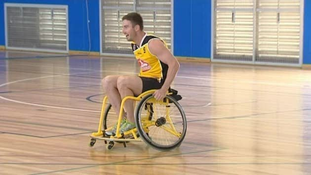 Cricketer Shaun Marsh has been spotted in a wheelchair