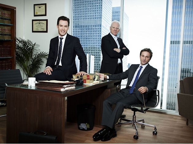 "The cast of ""Franklin & Bash."""