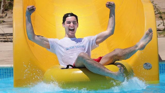 College Student's Dream Job: Water Slide Tester
