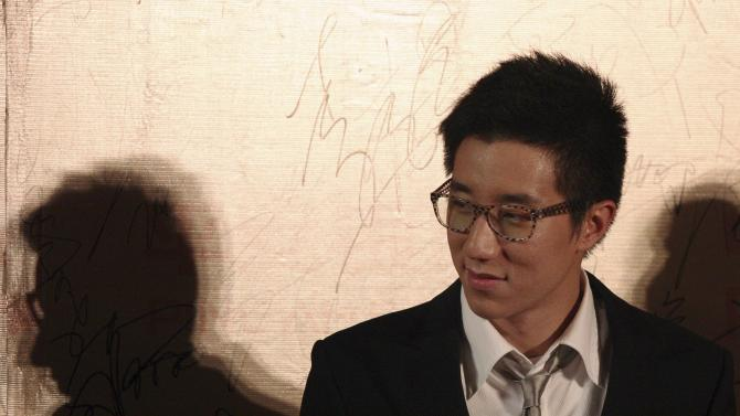 Hong Kong actor Jaycee Chan attends a movie festival in Shanghai
