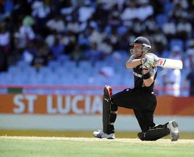 Brendon McCullum hit 68 off 125 balls for the visitors