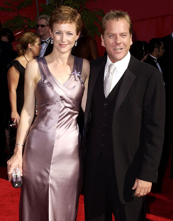 Leslie Hope and Kiefer Sutherland at The 54th Annual Primetime Emmy Awards. 