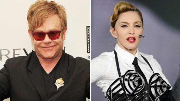 Elton John / Madonna -- Getty Images