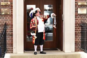 Town crier Tony Appleton announces the birth of a daughter …