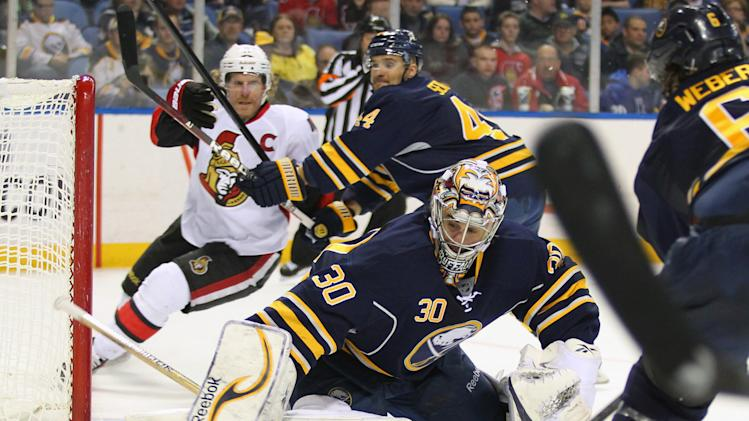 NHL: Ottawa Senators at Buffalo Sabres