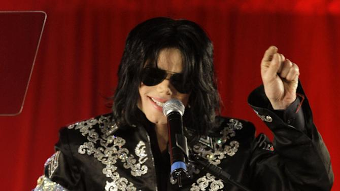"FILE - In this March 5, 2009 file photo, Michael Jackson announces several concerts at the London O2 Arena in July, at a press conference at the London O2 Arena. Emails displayed in a Los Angeles courtroom on Wednesday, May 22, 2013, show that a lawyer for AEG Live LLC's parent company described Jackson as a ""freak"" in an email message on the same day the singer signed a multimillion dollar contract to perform a series of comeback concerts in 2009. (AP Photo/Joel Ryan, file)"