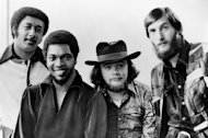 "FILE - Soul rockers Booker T and the MGs are seen in this Jan. 1970 file photo, from left to right: Al Jackson, Jr., Booker T. Jones, Donald ""Duck"" Dunn, and Steve Cropper. Bass player and songwriter Donald ""Duck"" Dunn, a member of the Rock 'n' Roll Hall of Fame band Booker T. and the MGs and the Blues Brothers band, died in Tokyo Sunday May 13, 2012. He was 70. (AP Photo, File)"