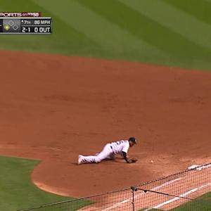 LaRoche's diving stop at first