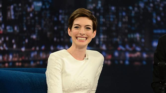 """Anne Hathaway Visits """"Late Night With Jimmy Fallon"""""""