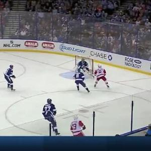 Ben Bishop Save on Justin Abdelkader (10:46/2nd)