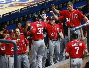 Nats' Morse hits tying HR, go-ahead double in 11th