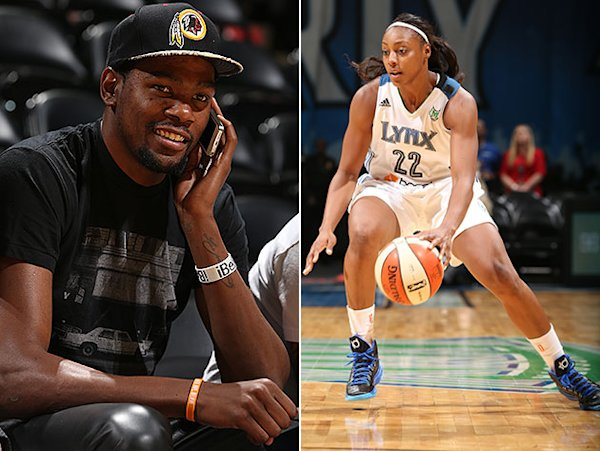 Kevin Durant's engaged to Monica Wright of WNBA's ...